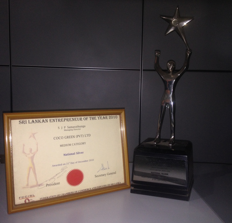 NATIONAL - SILVER Sri Lankan Entrepreneur of the Year - 2010 Medium Category