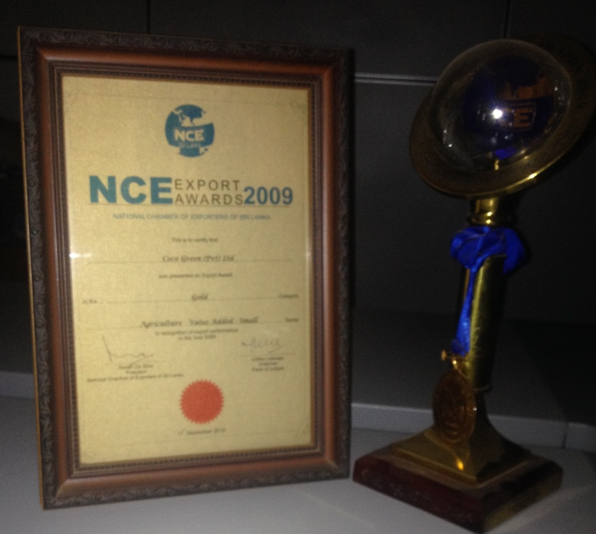 National - GOLD  NCE (National Chamber of Exports) - 2009 Agriculture Value Added - Small Category
